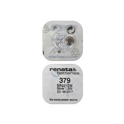 Батарейка серебряно-цинковая часовая RENATA SR521SW 379, в упак 10 шт
