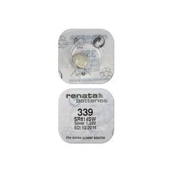 Батарейка серебряно-цинковая часовая RENATA SR614SW 339, в упак 10 шт