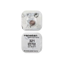 Батарейка серебряно-цинковая часовая RENATA SR616SW 321, в упак 10 шт