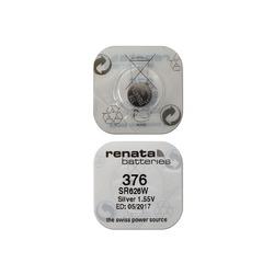 Батарейка серебряно-цинковая часовая RENATA SR626W 376, в упак 10 шт