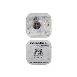 Батарейка серебряно-цинковая часовая RENATA SR721SW 362, в упак 10 шт