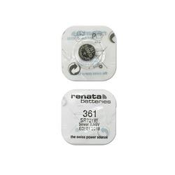 Батарейка серебряно-цинковая часовая RENATA SR721W 361, в упак 10 шт