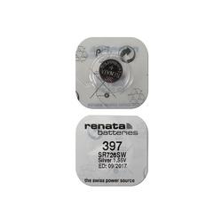 Батарейка серебряно-цинковая часовая RENATA SR726SW 397, в упак 10 шт