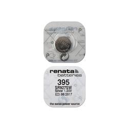 Батарейка серебряно-цинковая часовая RENATA SR927SW 395, в упак 10 шт