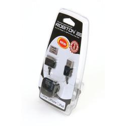 Адаптер/блок питания автомобильный ROBITON App02 Tiny Car Charger 2.1A iPhone/iPad BL1