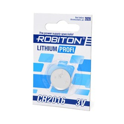 Батарейка дисковая литиевая ROBITON PROFI R-CR2016-BL1 CR2016 BL1