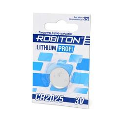 Батарейка дисковая литиевая ROBITON PROFI R-CR2025-BL1 CR2025 BL1