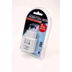 Адаптер/блок питания ROBITON USB1000 white 1000mA с USB входом BL1