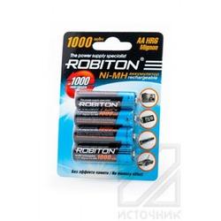 Аккумулятор Ni-MN ROBITON 1000MHAA-4 BL4