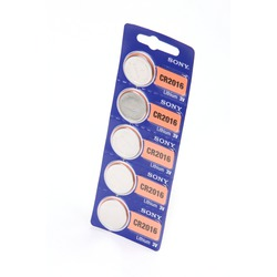 Батарейка дисковая литиевая SONY CR2016 BL5