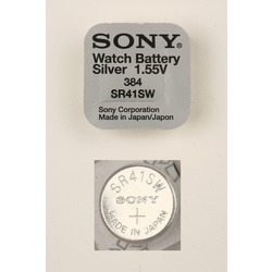 Батарейка серебряно-цинковая часовая SONY SR41SW 384