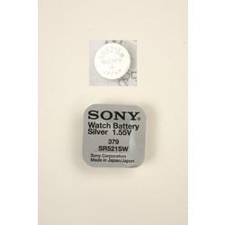 Батарейка серебряно-цинковая часовая SONY SR521SW 379
