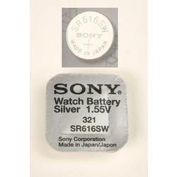 Батарейка серебряно-цинковая часовая SONY SR616SW 321