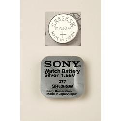 Батарейка серебряно-цинковая часовая SONY SR626SW 377
