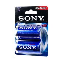 Батарейка бытовая стандартных типоразмеров SONY Stamina Plus AM1-B2D LR20 BL2