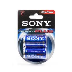 Батарейка бытовая стандартных типоразмеров SONY Stamina Plus AM2-B2D LR14 BL2