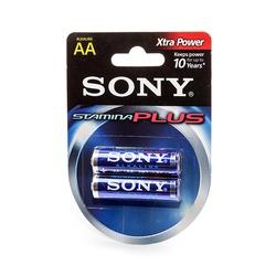 Батарейка бытовая стандартных типоразмеров SONY Stamina Plus AM3-B2D LR6 BL2