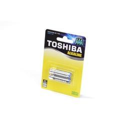 Батарейка бытовая стандартных типоразмеров TOSHIBA Alkaline LR03GCNN BP-2 SS LR03 BL2