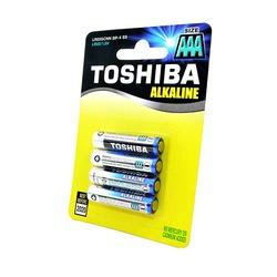 Батарейка бытовая стандартных типоразмеров TOSHIBA Alkaline LR03GCNN BP-4 SS LR03 BL4
