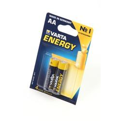 Батарейка бытовая стандартных типоразмеров VARTA ENERGY 4106 LR6 BL2