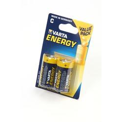 Батарейка бытовая стандартных типоразмеров VARTA ENERGY 4114 LR14 BL2