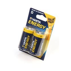 Батарейка бытовая стандартных типоразмеров VARTA ENERGY 4120 LR20 BL2