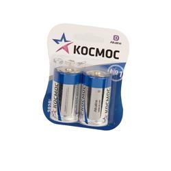 Батарейка бытовая стандартных типоразмеров КОСМОС LR20 BL2