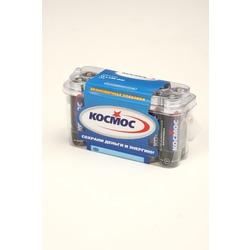 Батарейка бытовая стандартных типоразмеров КОСМОС LR6 в пласт. боксе 12 шт