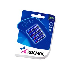 Батарейка бытовая стандартных типоразмеров КОСМОС R03 BL4