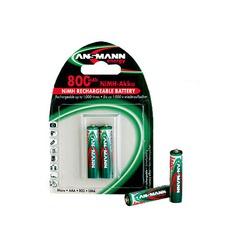 Аккумулятор цилиндрический ANSMANN 800 AAA 5030102 BL2