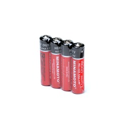 Батарейка бытовая стандартных типоразмеров MINAMOTO Heavy Duty R03 SR4, в упак 60 шт