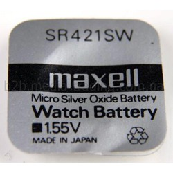 Батарейка серебряно-цинковая часовая MAXELL SR421SW 348