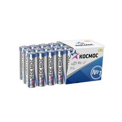 Батарейка бытовая стандартных типоразмеров КОСМОС LR6 в пласт. боксе 24 шт
