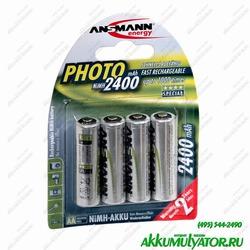 Аккумулятор цилиндрический ANSMANN 5030482 2400 AA Special BL4