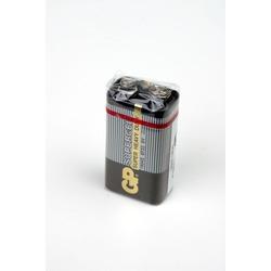 Батарейка бытовая стандартных типоразмеров GP Supercell 1604S/6F22 SR1, в упак 10 шт