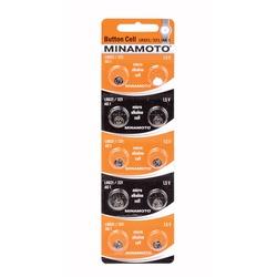 Батарейка алкалиновая часовая MINAMOTO Button Cell AG1 BL10