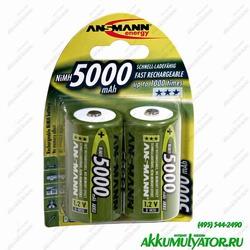 Аккумулятор цилиндрический ANSMANN 5000 D 5030922 BL2
